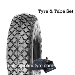 4.00-4 4ply Duro HF-210 Block Tread Tyre & Tube