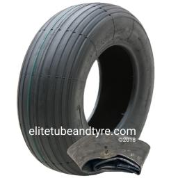 3.50-8 4ply Deli S-379 MultiRib Tyre & Tube Set