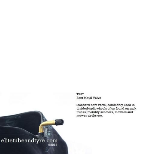 4.00-5 (330x100) Inner Tube, Bent Metal Valve TR87