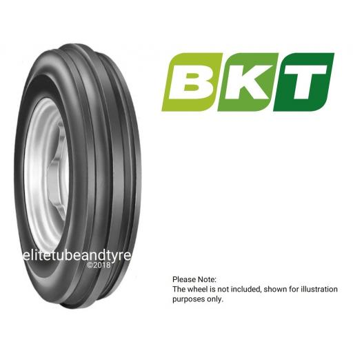 7.50-16 8ply BKT 3-Rib Tractor Front Tyre