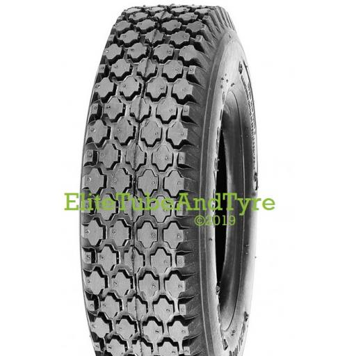 4.10/3.50-6 4ply Deli S-356 Block Tread Tyre, Tubeless