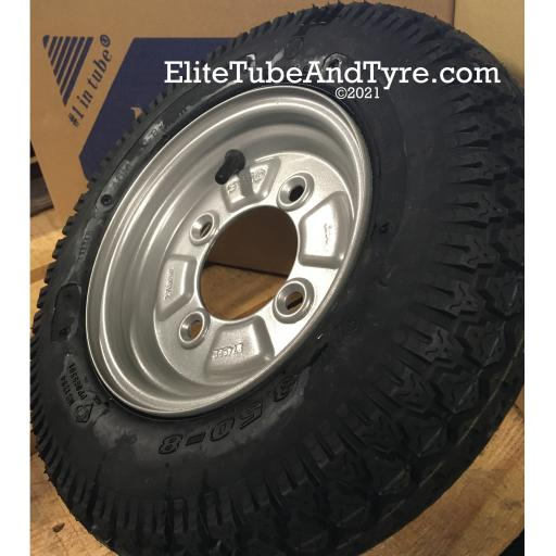 3.50-8 4PR 46M Deli Trailer Tyre & Wheel Assembly, 115mm PCD 4-Stud