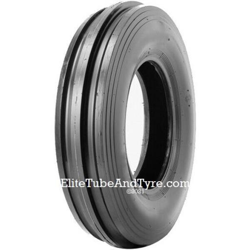 7.50-16 8PR Galaxy 303 F-2 3-Rib Tractor Front Tyre, Tube Type